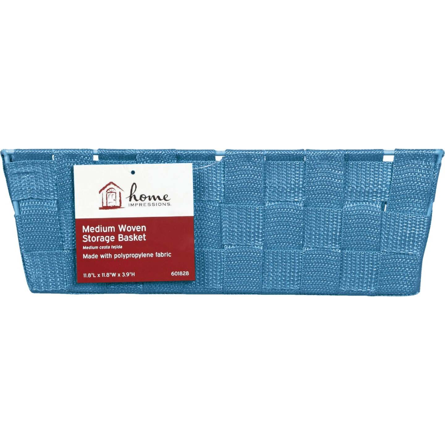 Home Impressions 11.75 In. x 3.75 In. H. Woven Storage Basket, Blue Image 2
