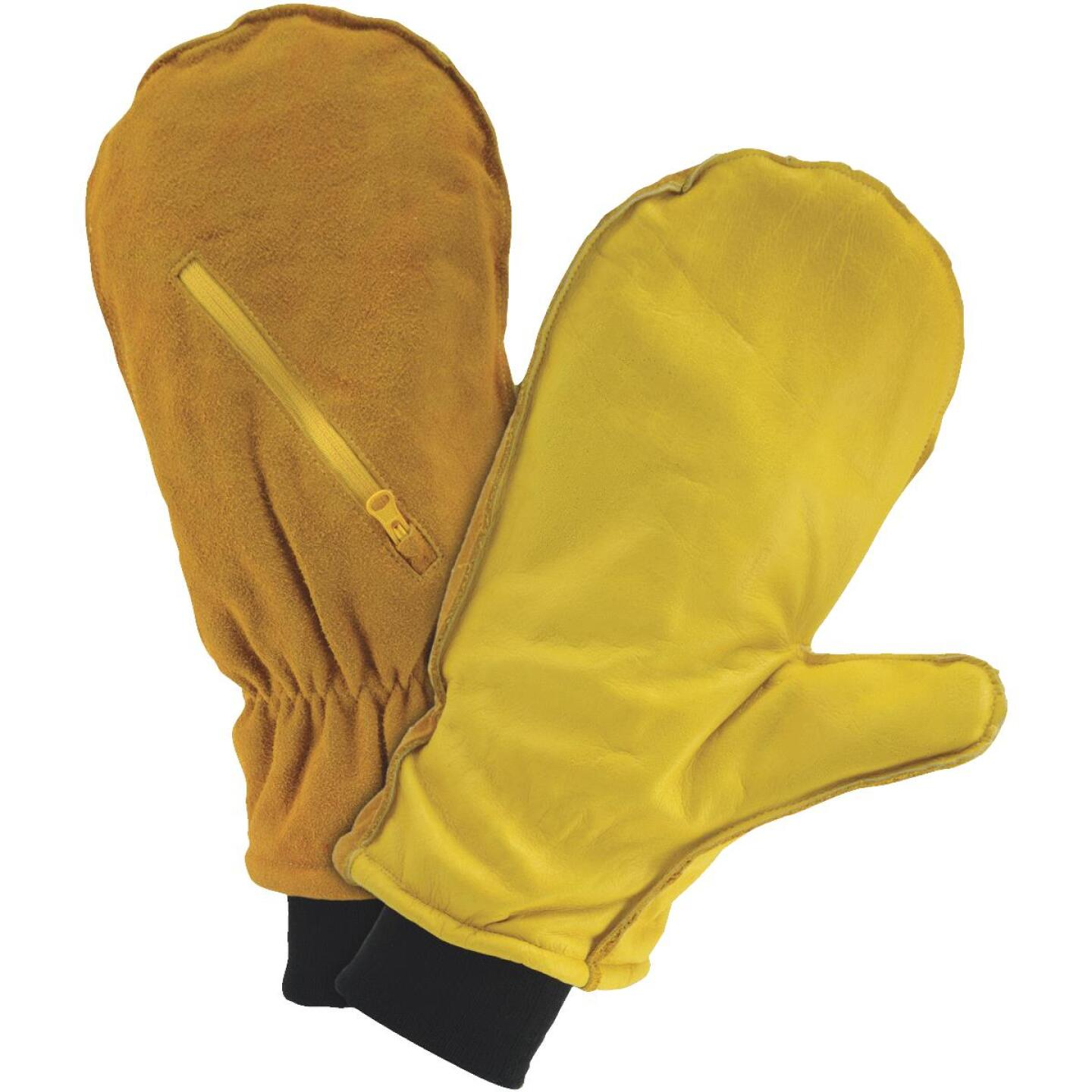 West Chester Men's XL Insulated Leather Mitten Winter Glove Image 1