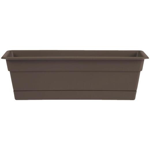 Bloem Dura Cotta 30 In. Plastic Chocolate Flower Box