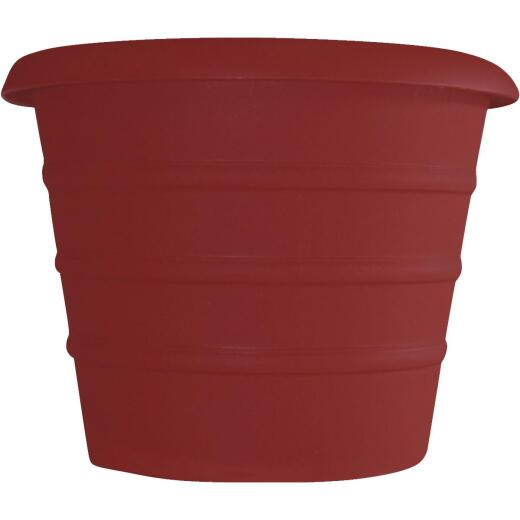 Myers Marina 12 In. Dia. Red Poly Flower Pot