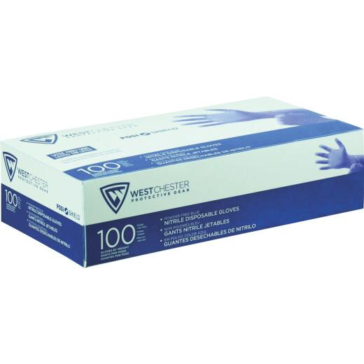 West Chester Protective Gear Posi Shield Medium Nitrile Disposable Glove with Textured Fingertips (100-Pack)