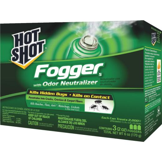 Hot Shot 2 Oz. Indoor Insect Fogger with Odor Neutralizer (3-Pack)