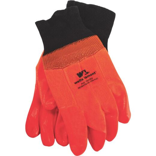 Wells Lamont Men's 1 Size Fits All PVC Coated Cotton Chemical Resistant Winter Glove