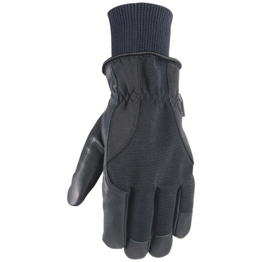 Wells Lamont HydraHyde Men's XL Grain Goatskin Black Insulated Work Glove