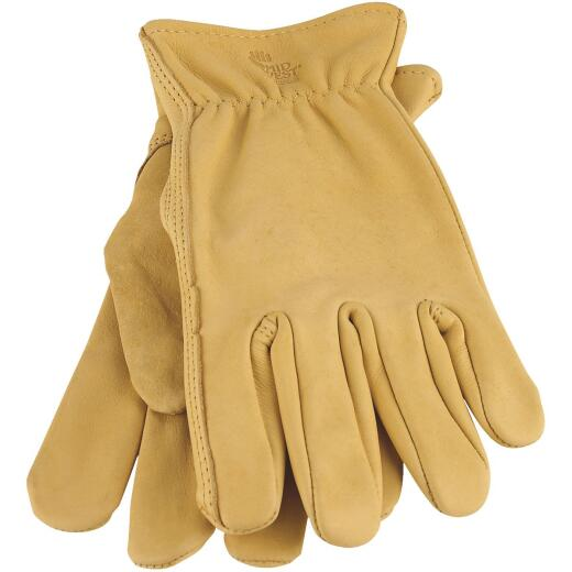 Midwest Gear Men's Large Smooth Grain Leather Work Glove