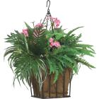 Best Garden 14 In. Steel Rod Black Hanging Plant Basket Image 2