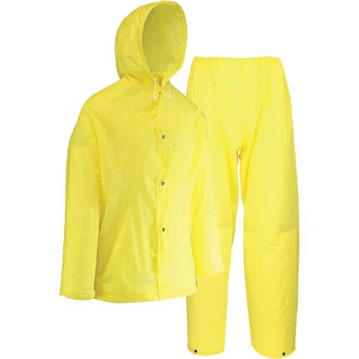 West Chester XL 2-Piece Yellow EVA Rain Suit