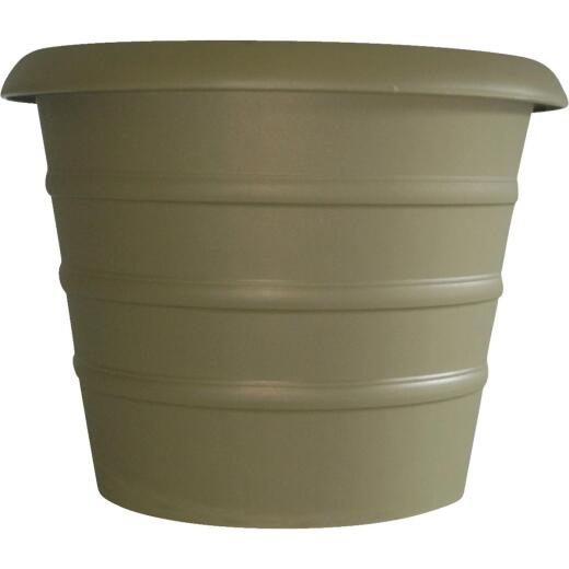 Myers Marina 12 In. Dia. Slate Green Poly Flower Pot