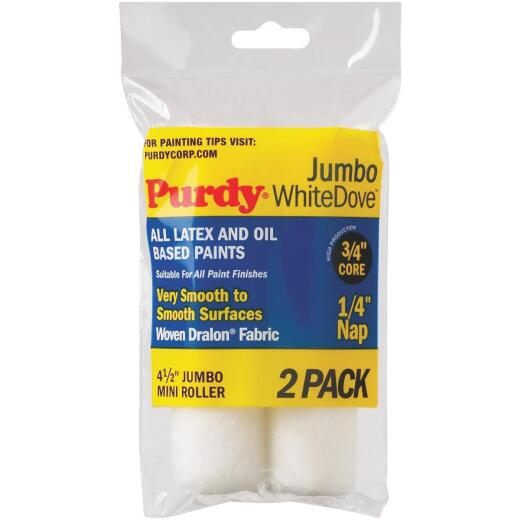 Purdy White Dove 4-1/2 In. x 1/4 In. Jumbo Mini Woven Fabric Roller Cover (2-Pack)