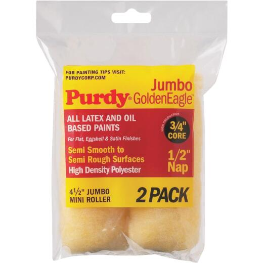 Purdy Jumbo Golden Eagle 4-1/2 In. x 1/2 In. Mini Knit Fabric Roller Cover (2-Pack)