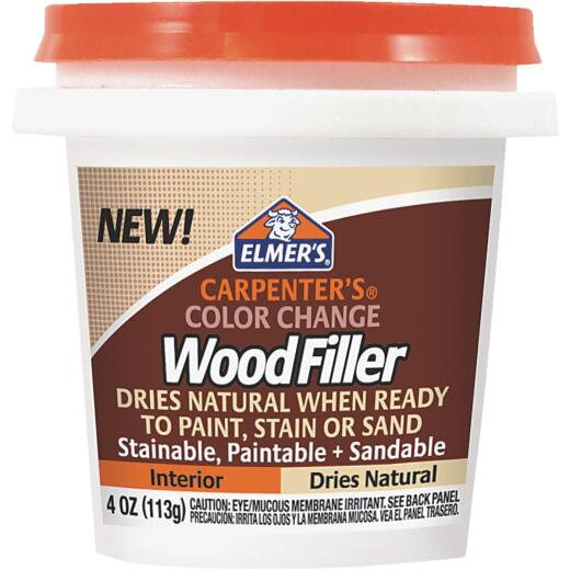 Elmer's Carpenter's 4 Oz. Color Change Wood Filler, Natural