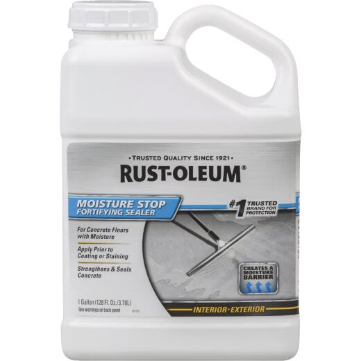Rust-Oleum Moisture Stop Fortifying Concrete Sealer, 1 Gal., Clear