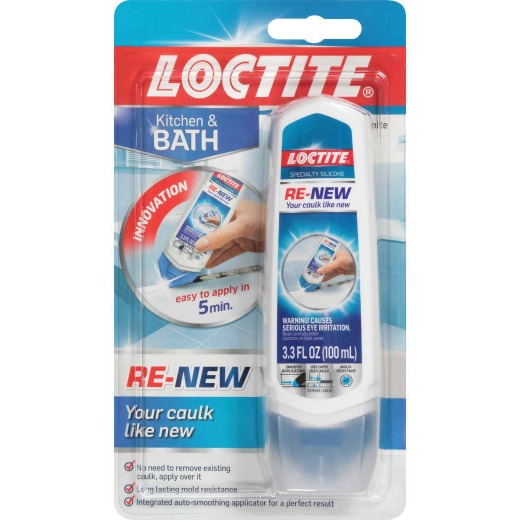 Loctite Re-New 3.3 Oz. Kitchen & Bath Silicone Sealant, White