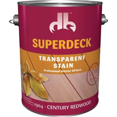 Duckback SUPERDECK VOC Transparent Exterior Stain, Century Redwood, 1 Gal.