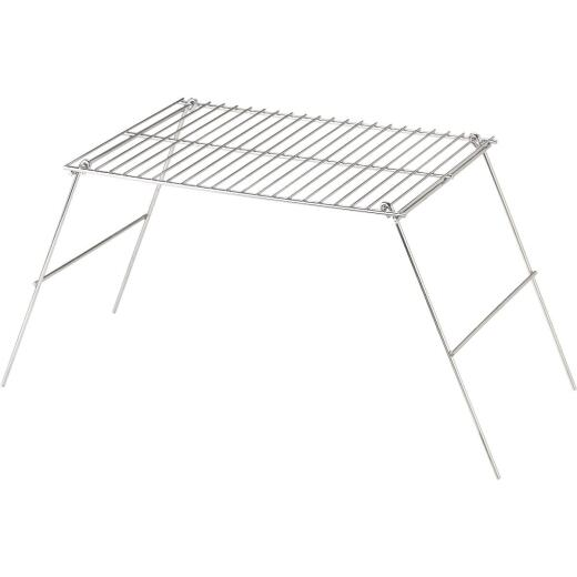 Rome Industries 10-1/2 In. W. x 12 In. H. x 17 In. L. Chrome-Plated Metal Camp Grill with Legs