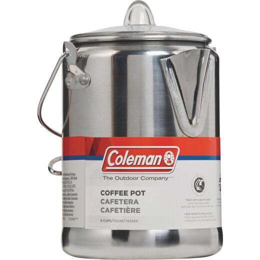 Coleman 9-Cup Aluminum Camping Coffee Pot